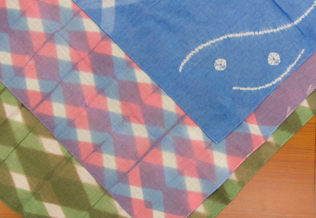 023-01]Atelier visit & handkerchief dyeing workshop (itajime